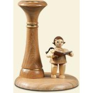 Kerzenhalter Engelmusikant stehend mit Krone Engelhöhe ca 6,5 cm NEU