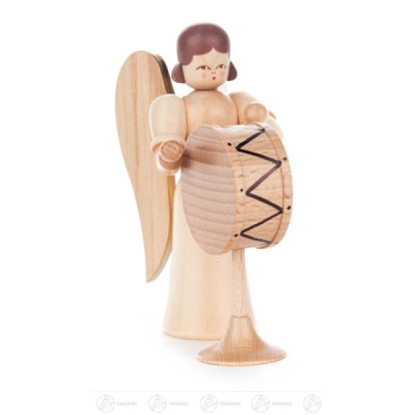 Engel mit Trommel, natur Höhe ca 9,5 cm NEU