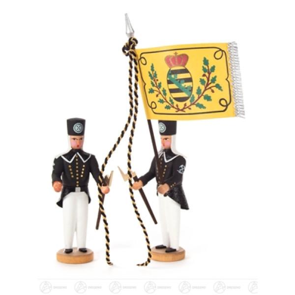 Miniatur Fahnenbegleiter mit Schülerfahne Höhe ca 11 cm NEU