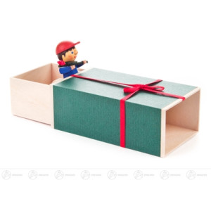 """Musikdose Musikdose """"Geschenke-Box"""", Junge mit Blume Höhe ca 6 cm NEU"""