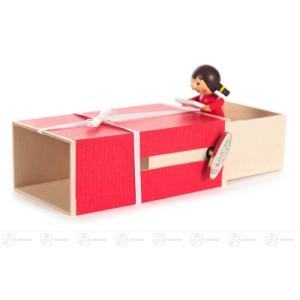 """Musikdose Musikdose """"Geschenke-Box"""", Mädchen mit Brief Höhe ca 6 cm NEU"""