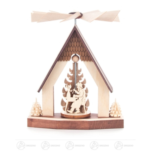 Pyramide Wärmespiel Haus Hutzenstube Breite x Höhe x Tiefe 9 cmx12 cmx9 cm NEU
