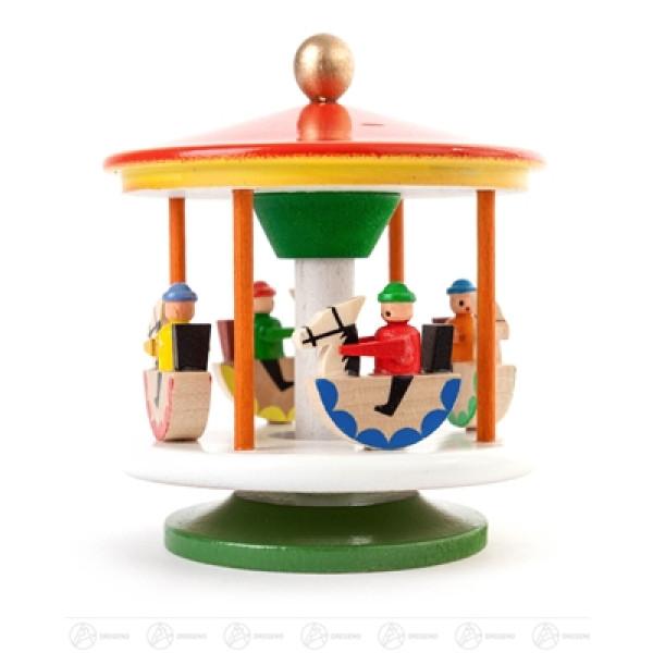 Spielzeug Karussell mit Reiterlein farbig Höhe ca 8 cm NEU