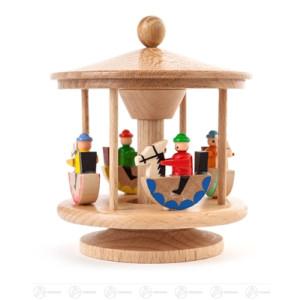 Spielzeug Karussell mit Reiterlein natur Höhe ca 8 cm NEU