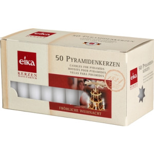 Kerzendekoration 1 Packungen mit 50 Pyramidenkerzen weiß HxBxT = 7x15x7cm NEU