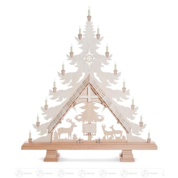 Schwibbogen Baum mit Rehen 102cm, elektrisch beleuchtet Breite x Höhe x Tiefe 105 cmx105 cmx16 cm NEU