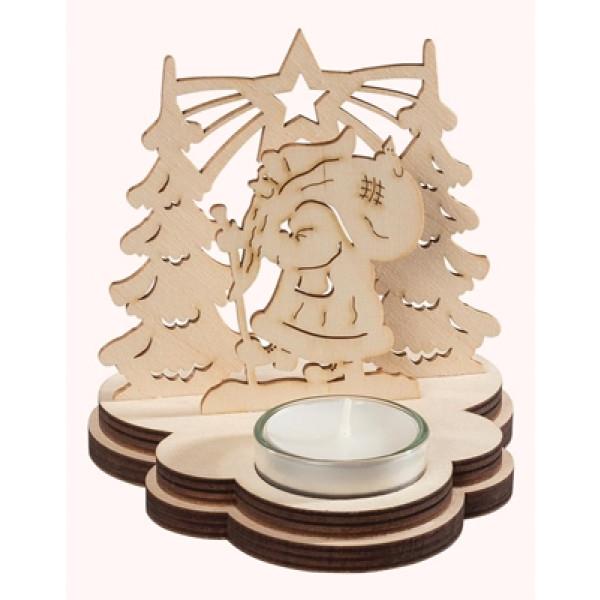 Leuchter Weihnachtsmann, für 1 Teelicht 12 x 12 x 12 cm (B x H x T) NEU