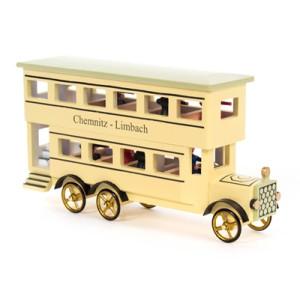 Miniaturfahrzeug Miniatur-Doppelstockbus BxHxT 120 x 650 x 30mm NEU