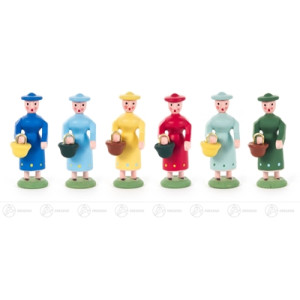 Figuren Miniatur-Frauengruppe (6) Höhe = 40mm NEU