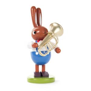 Hase mit Tuba Höhe = 100mm NEU