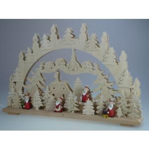 Beleuchteter Schwibbogen mit Weihnachtsmänner Größe =70x45cm NEU