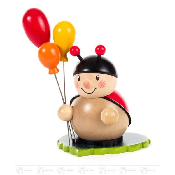 Zubehör Vario Tischleuchter Marienkäfer mit Luftballons farbig Höhe = 8,5cm NEU