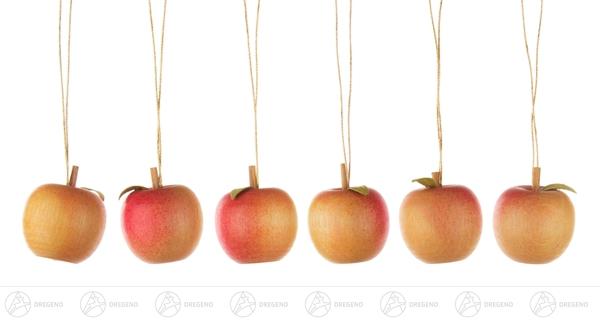 Baumbehang Apfel mit Blatt (12) BxHxT = 2,5x2,5x2,5cm NEU