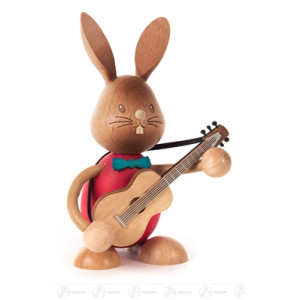 Hase »Stupsi« mit Gitarre Höhe = 11cm NEU