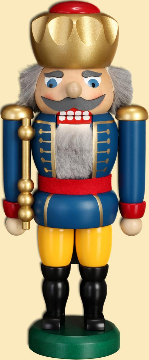 Weihnachtsdekoration Nußknacker König blau HxBxT = 25x11x7cm NEU