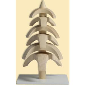 Weihnachtsdekoration Drehbaum Weißbuche natur HxBxT = 11,5x7x7cm NEU