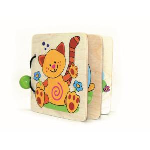 Holzspielzeug Bilderbuch Tiere BxLxH 110x15x90mm NEU