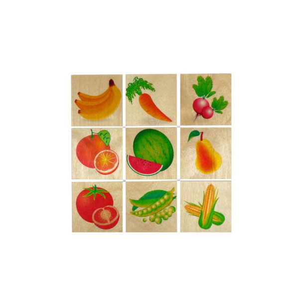 Holzspielzeug Memory spiel Obst & Gemüse BxLxH 50x3x50mm NEU