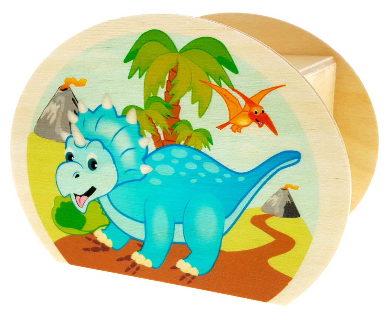 Holzdekoration Spardose Dinosaurier BxLxH 65x115x85mm NEU