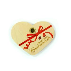 Holzdekoration Geburtstagsherz Herzlichen Glückwunsch BxLxH 110x10x90mm NEU