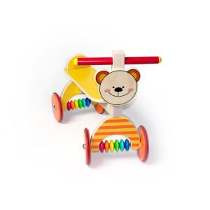 Holzspielzeug Rutscher Teddy gelb BxLxH 410x190x340mm NEU