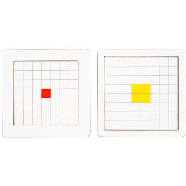 Holzspielzeug Raster-Tablett Klein LxBxH 245x245x10mm NEU