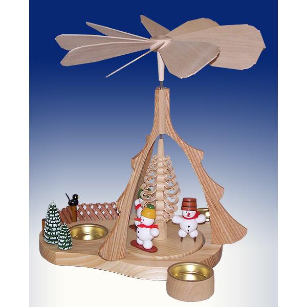Tischpyramide Schneemänner bunt BxHxt 21x26x20,5cm NEU