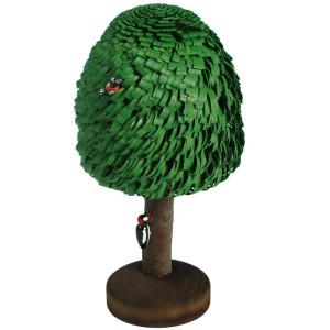 Laubbaum + Specht Baum Groß Holzbaum H= 17cm NEU
