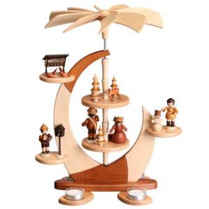 Designpyramide ohne Bestückung mit Teelichter HxLxB 43x33x27cm NEU