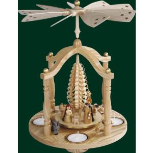 Glockenpyramide Christi Geburt Pyramide Volkskunst Teelicht NEU Erzgebirge 15851