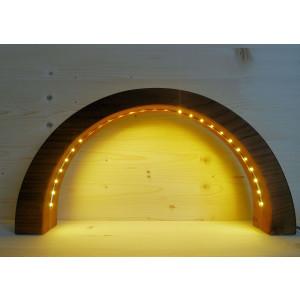 LED Schwibbogen Kirsche geschnitzt 12,5 cm Lichterbogen NEU
