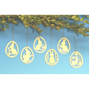 Baumbehang 6 verschiedene Osterhasenmotive 6,8 NEU