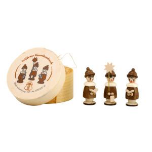 Miniaturfiguren Kurrende in der Spanschachtel natur Höhe 3,7cm NEU