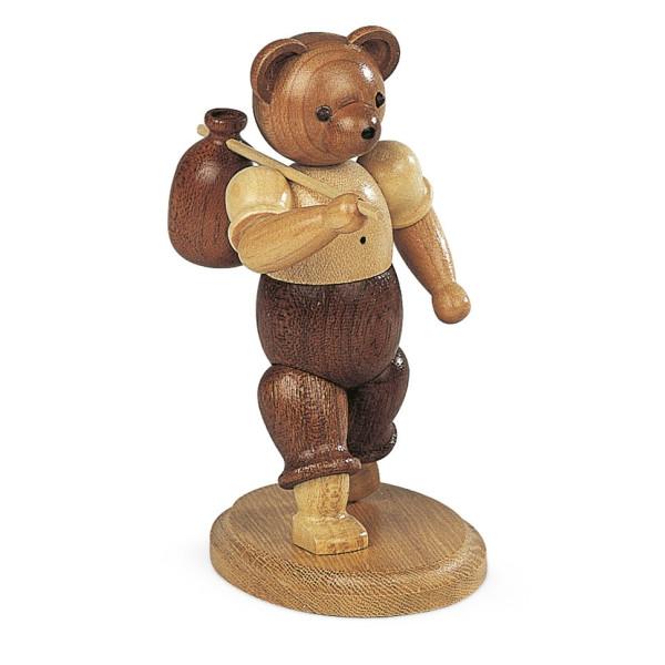 Bärensammelfigur Bär Wandersmann natur klein Höhe 14 cm NEU