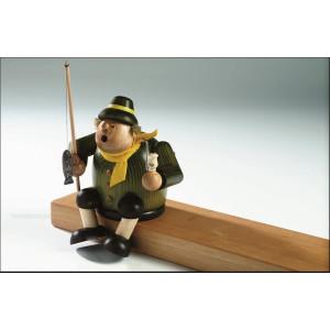 Räucherfigur Kantenhocker-Angler 18 cm NEU