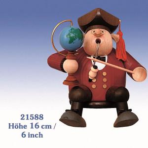 Räucherfigur Kantenhocker Professor 16 cm NEU