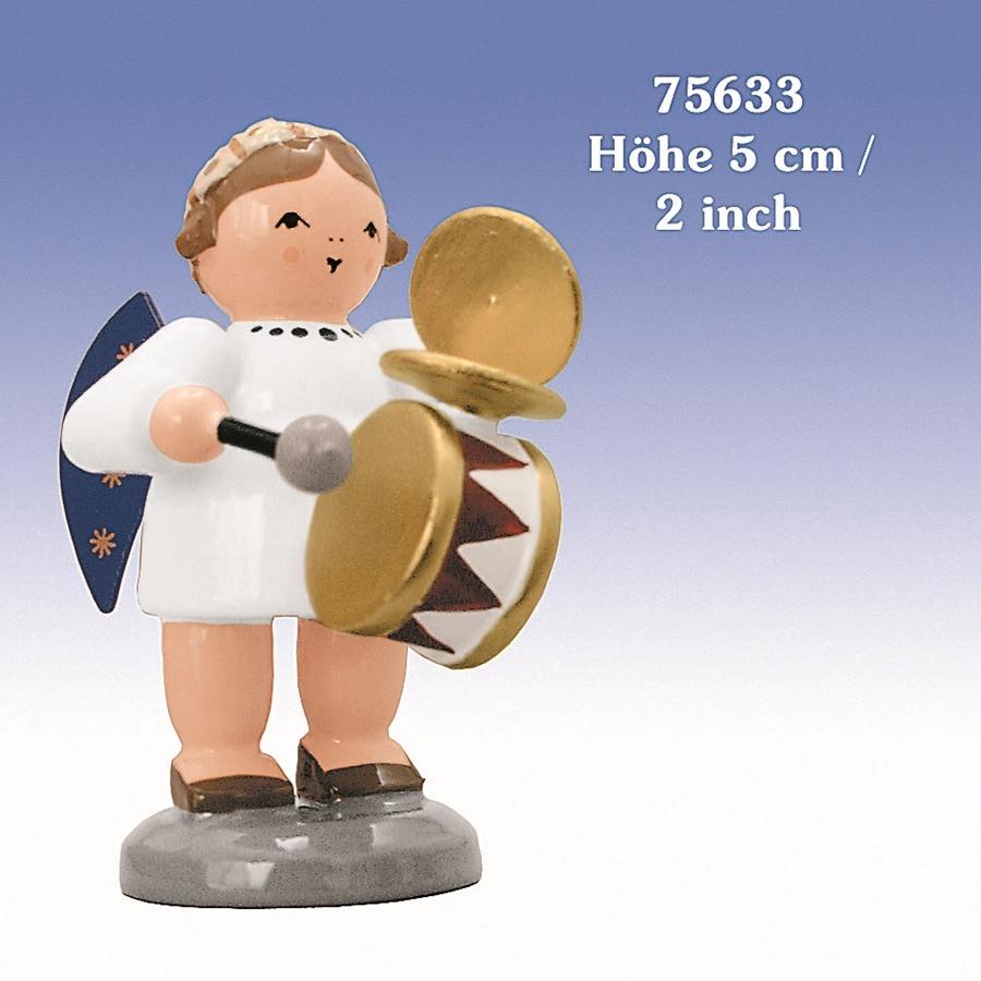 Engel mit Trommel und Schellen 5 cm NEU