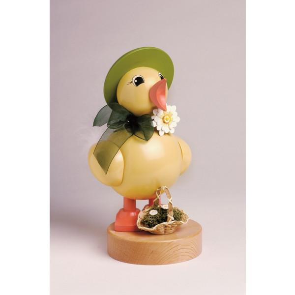 Küken Frühlingsküken mit grünen Hut 21 cm NEU