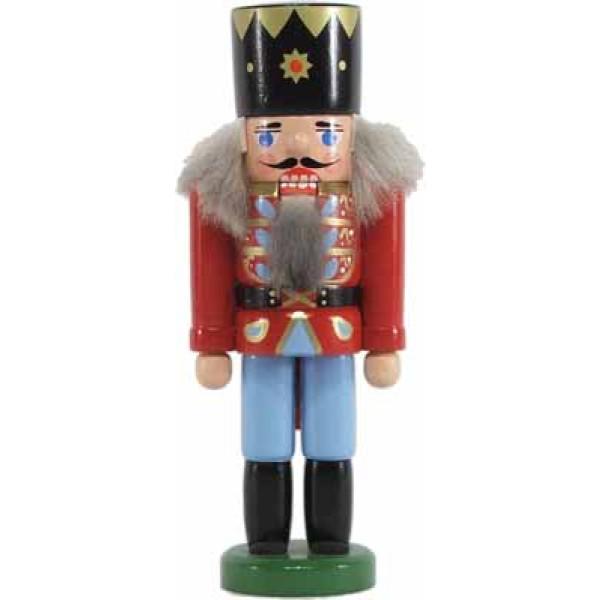 Miniatur - Nussknacker König dunkelrot 13cm NEU