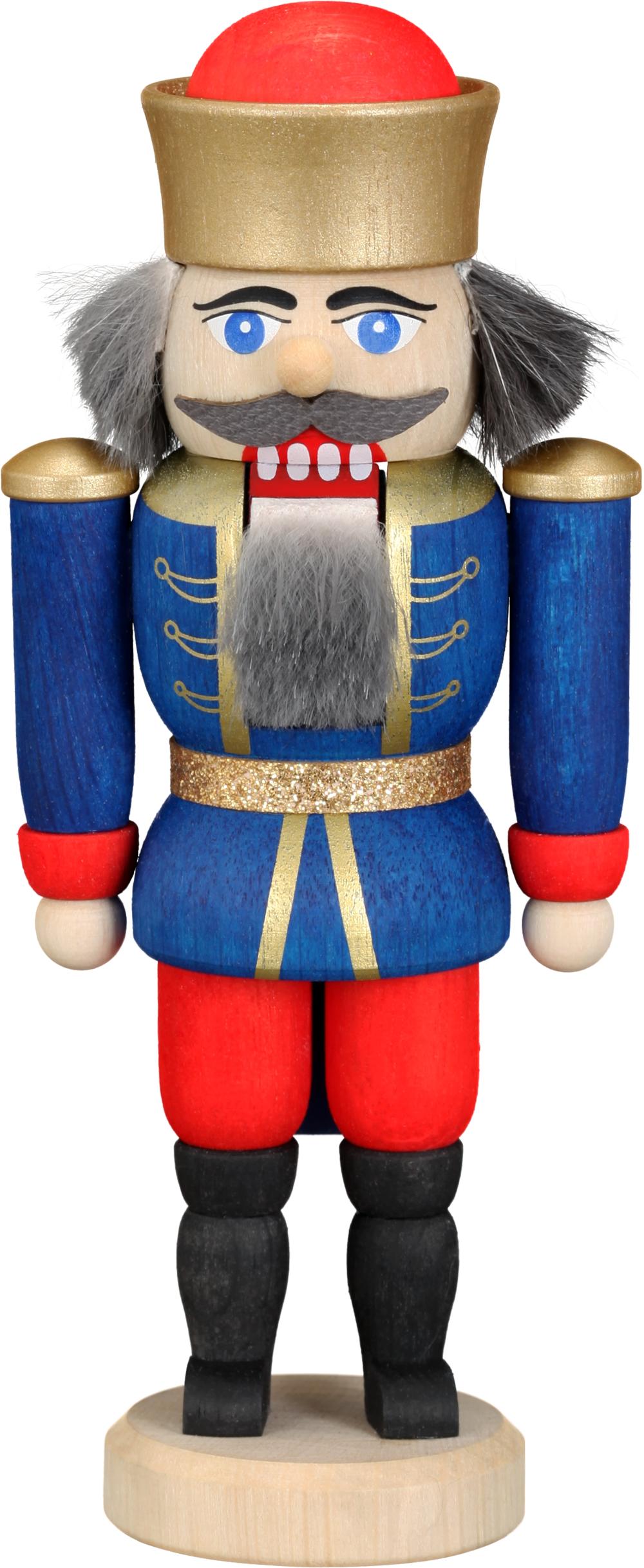 Nußknacker König blau HxBxT = 12x6x4cm NEU