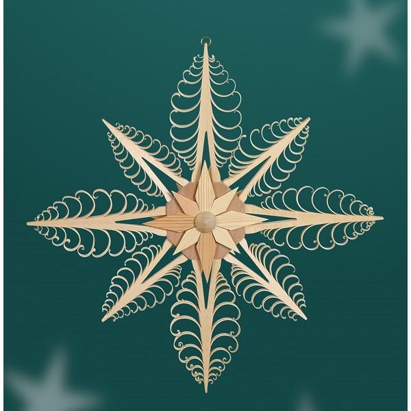 Fensterschmuck Spanstern 8 eckig Mitte mit Stern (beidseitig) BxHxT=32x32x3cm NEU
