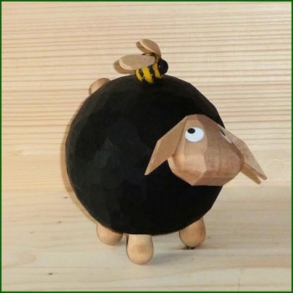 Schaf Gustav mit Hummel, groß Höhe ca 13,5cm NEU
