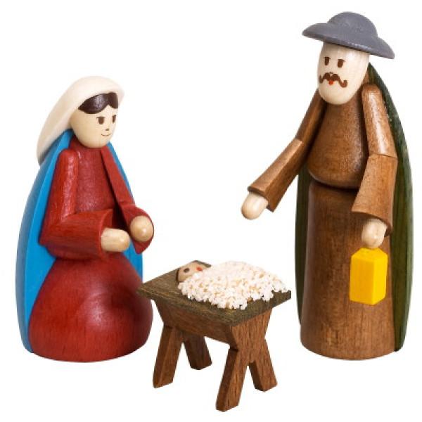 Miniaturfiguren 3 Krippenfiguren bunt Höhe 5,5cm NEU
