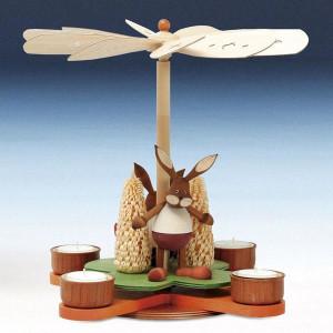 Tischpyramide Pyramide mit Hase bunt Höhe 29 cm NEU