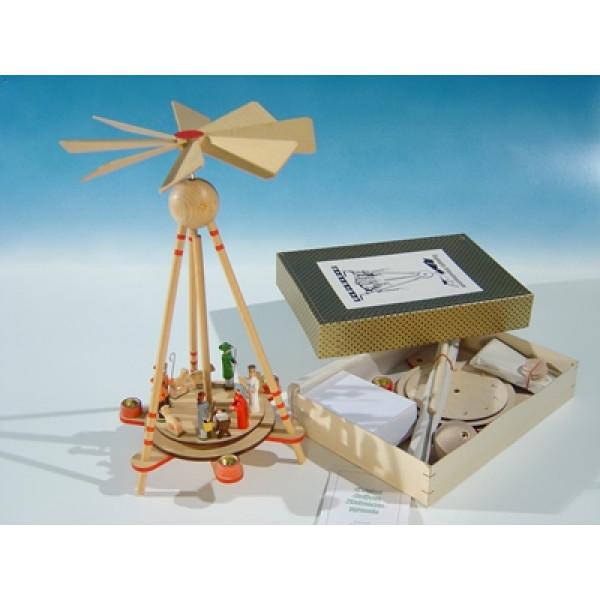 Krippenpyramide als Stabpyramide - zerlegbar Höhe ca 33 cm NEU