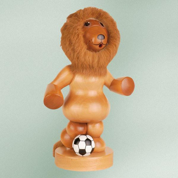 Räuchermann Löwe mit Fußball Höhe ca 27 cm NEU