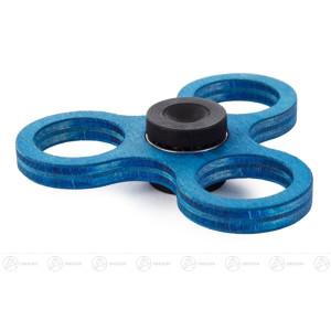 Fidget Spinner Kreisel Twist Anti Streß blau (für 50-Cent-Münzen) BxHxT = 8x2x8cm NEU