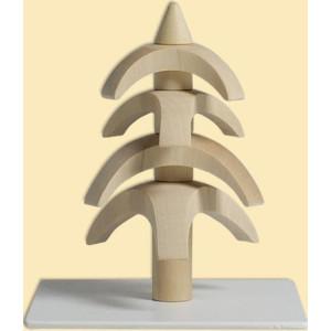 Tischdekoration Drehbaum Weißbuche natur HxBxT = 8x7x7cm NEU
