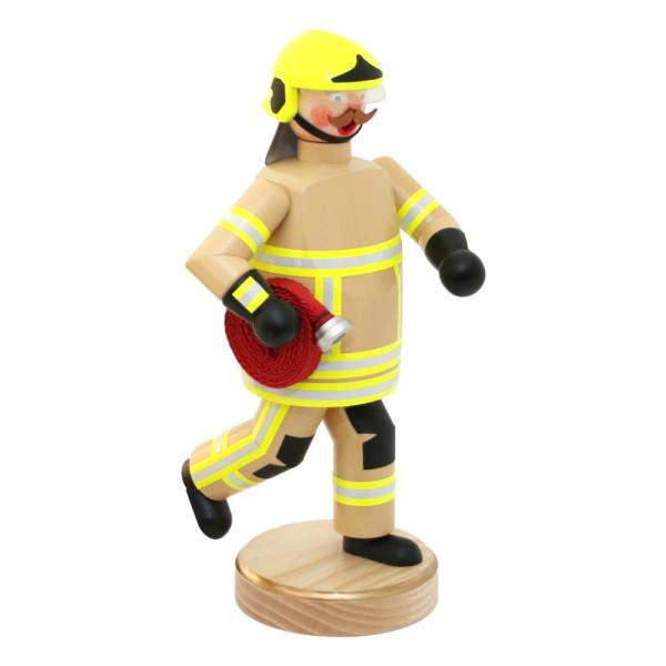 Räuchermann Feuerwehrmann modern, beige Uniform Höhe 23 cm NEU