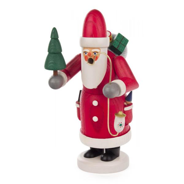 Räuchermann Weihnachtsmann mit Baum las. Höhe 18cm NEU